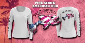 Salt Devils - Pink Series American Fish Shirt Long Sleeve