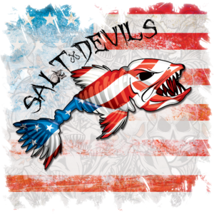 Salt Devils - American Grunge Flag Short Sleeve Performance Shirt