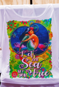 Salt Angels - Set You Free Mermaid Ladies Racerback Shirt