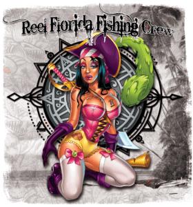 Salt Devils - Reel Florida Fishing Crew Pirate Wench Long Sleeve Performance Shirt