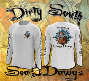 Salt Devils - Dirty South Sea Dawgz Long Sleeve Performance Shirt
