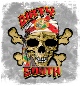 Salt Devils - Dirty South Skull Long Sleeve Performance shirt