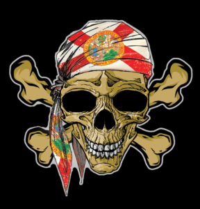 Salt Devils - Florida Skull Decal