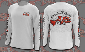 Salt Devils - Bucs Get Hooked Long Sleeve Performance Shirt