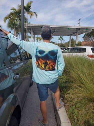 Salt Devils - Ghost Ship Long Sleeve Performance Shirt photo review