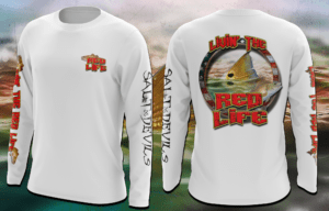 Salt Devils - Livin the Red Life Long Sleeve Performance Shirt