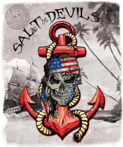 Salt Devils - American Kraken Anchor Long Sleeve Performance Shirt