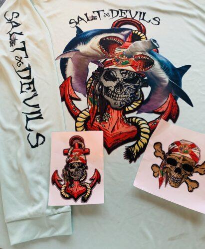 Salt Devils - Florida Shark Anchor Long Sleeve Performance Shirt photo review