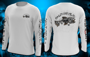 Salt Devils - Skull Lure Get Hooked Long Sleeve Performance Shirt
