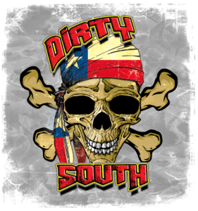 Salt Devils - Dirty South Texas Skull Long Sleeve Performance Shirt