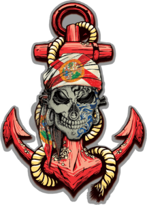 Salt Devils - Florida Skull Anchor Decal