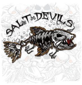 Salt Devils - Skull Lure Get Hooked Long Sleeve Performance Shirt