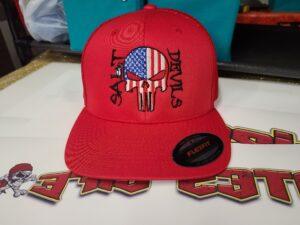 Salt Devils - American Punisher Red/Red FlexFit Mesh Hat