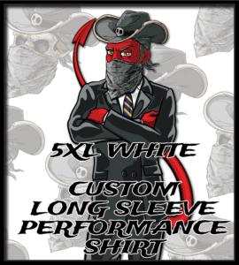 Salt Devils - CUSTOM 5xl White Long Sleeve Performance Shirt