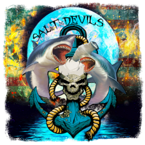 Salt Devils - Shark Anchor Moon Long Sleeve Performance Shirt