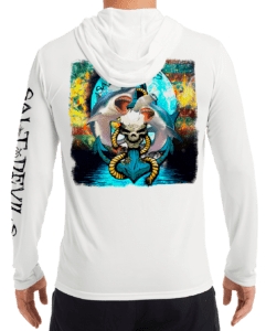 Salt Devils - Shark Anchor Moon Performance Hoodie