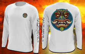 Salt Devils - Tiki Horn Long Sleeve Performance shirt