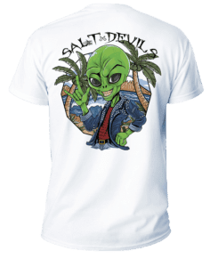 Salt Devils - Alien Vacation Short Sleeve Performance Shirt