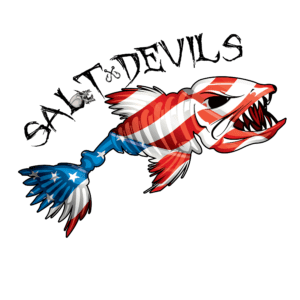 Salt Devils - American Pride Fish Long Sleeve Performance Shirt