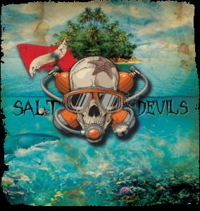 Salt Devils - Diver Skull Long Sleeve Performance Shirt