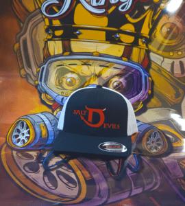 Salt Devils - Big D Yupoong Black/White Flexfit Hat