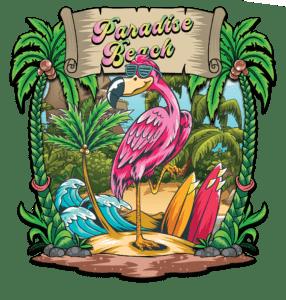 Salt Devils - Paradise Beach Long Sleeve Performance Shirt