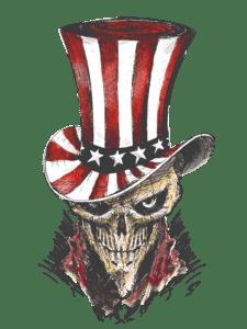 Salt Devils - Freedom Skull Long Sleeve Performance Shirt