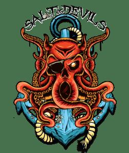 Salt Devils - Devil Kraken Long Sleeve Performance Shirt