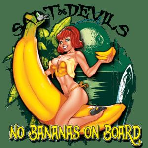 Salt Devils - No Bananas on Board Long Sleeve Performance Shirt