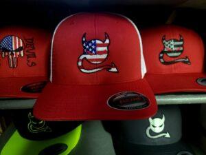 Salt Devils - Stars and Stripes Red/White Yupoong Flexfit Hat